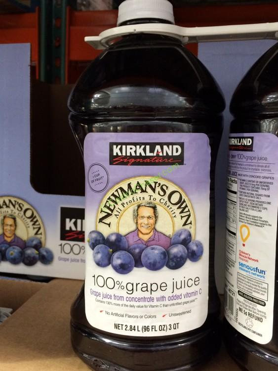 Costco 46721 Kirkland Signature Ewmans Grape Juice Face