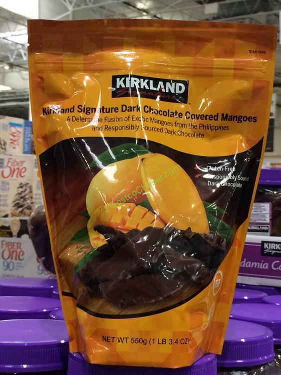 Kirkland Signature Dark Chocolate Mangos 19.4 Ounce Bag