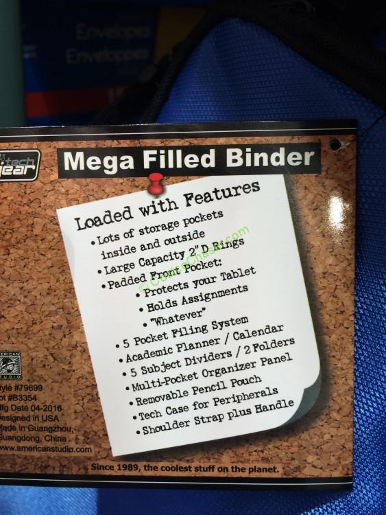 Tech Gear Filled Binder 2 D Ring Costcochaser