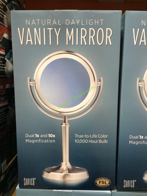 Costco 1089081 Sunter Lighted Vanity Mirror Box Costcochaser