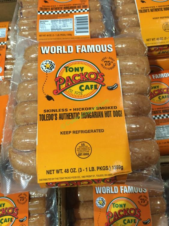 Tony Packo's Skinless Franks 3/16 Ounce Packages