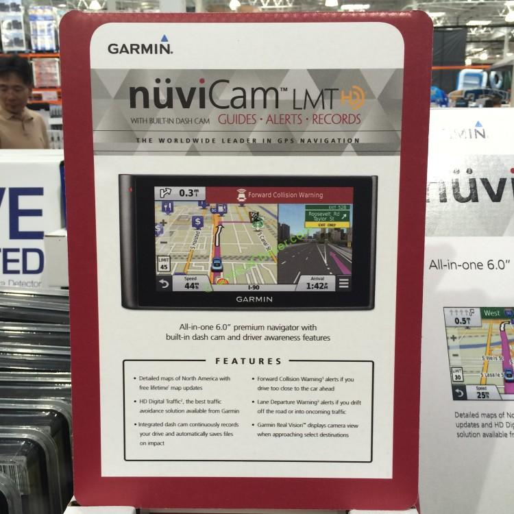 "Garmin Nuvicam LMTHD 6"" GPS/DASH CAM with Lifetime Maps, Manufacturer part# :  010-01378-01"