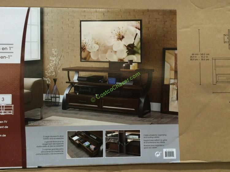 Bayside Furnishings 56 3 In 1 Tv Stand Costcochaser