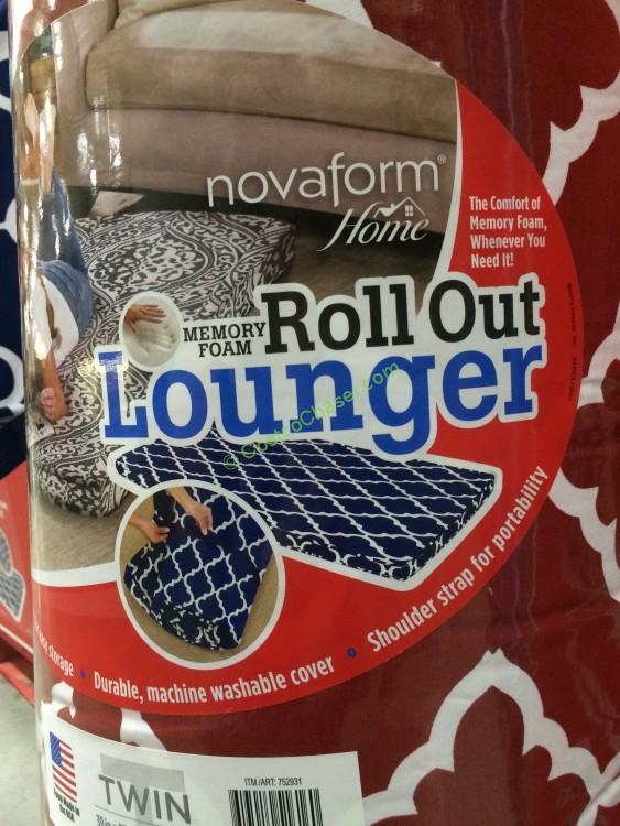 Novaform Home Roll Out Memory Foam Lounger Costcochaser