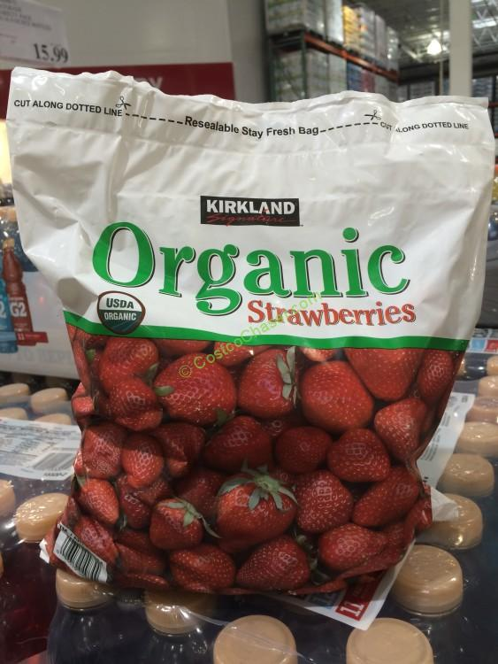 Kirkland Signature Organic Pure Nature Strawberries 4 Pound Bag