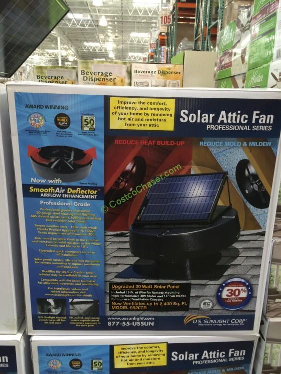 US Sunlight Solar Attic Fan 20W Model# 9920TR
