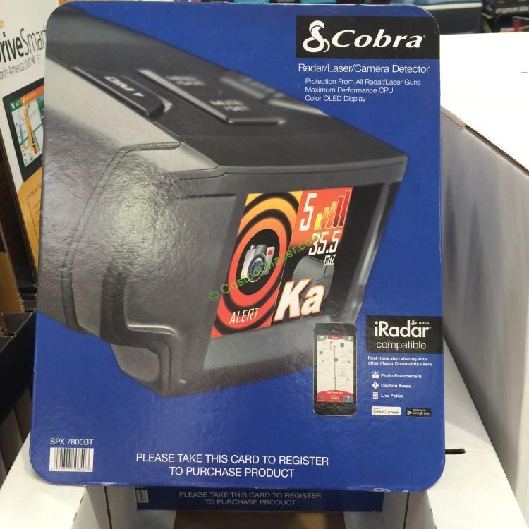 COBRA Radar/Laser Detector SPX7800BT
