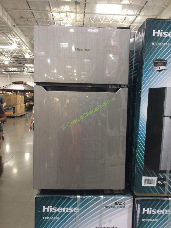Hisense Two Door Mini Fridge 3 3 Cubic Foot Model