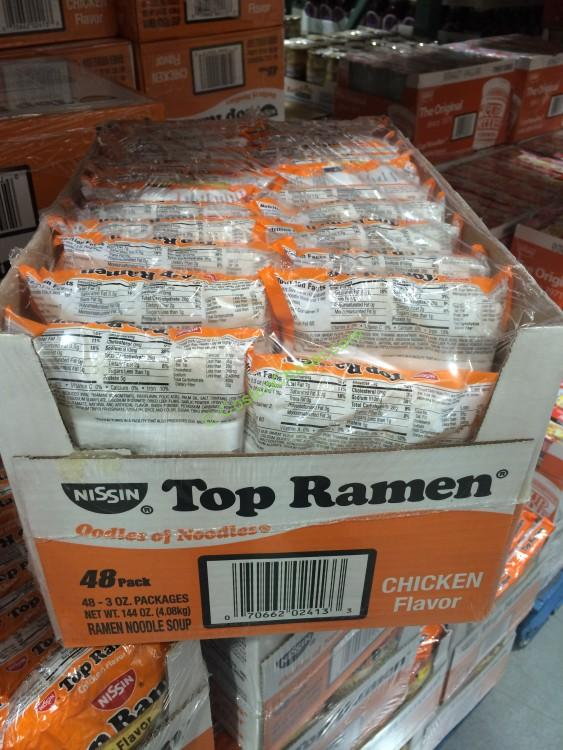 Nissin Ramen Chicken Flavor 48/3 Ounce Pouches