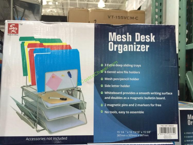 Mesh Desk Organizer by Home & Office with Whiteboard