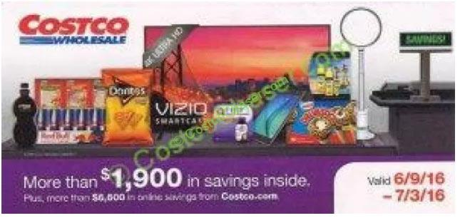 Costco Coupon Book: June 9 – July  3, 2016