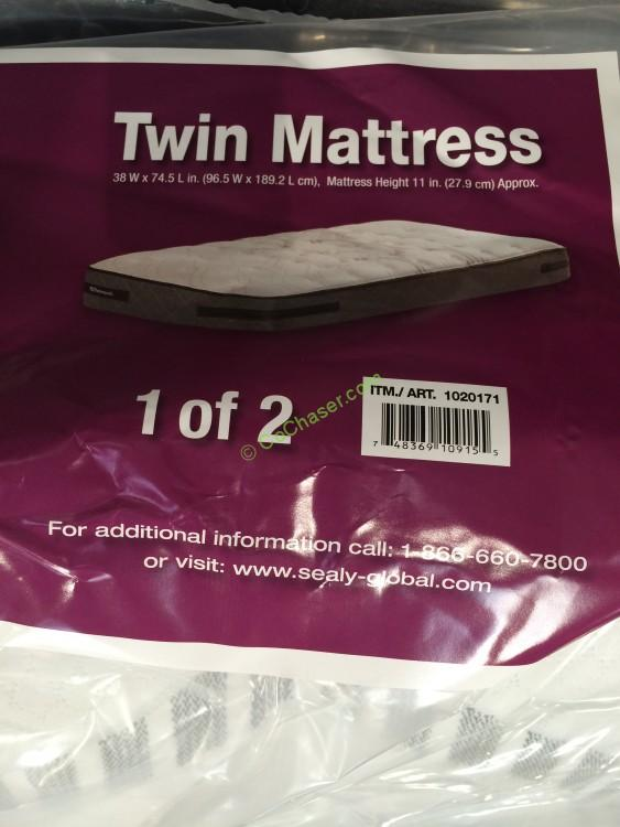 Costco 1020171 Sealy Hawthorne Twin Firm Mattress Set Name Costcochaser