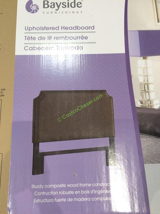 Bayside Furnishings Upholstered Headboard 2 Styles