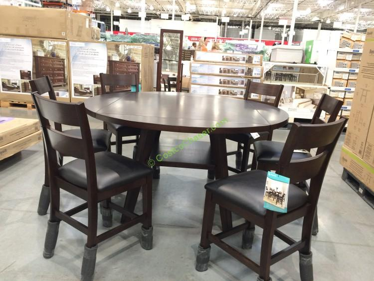 Bayside Furnishings PC Square To Round Dining Set CostcoChaser - Dining sets at costco dining sets costco brown and black color