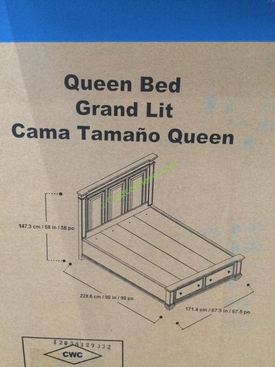 Universal Furniture Broadmoore Queen / Cal King Bed With Storage