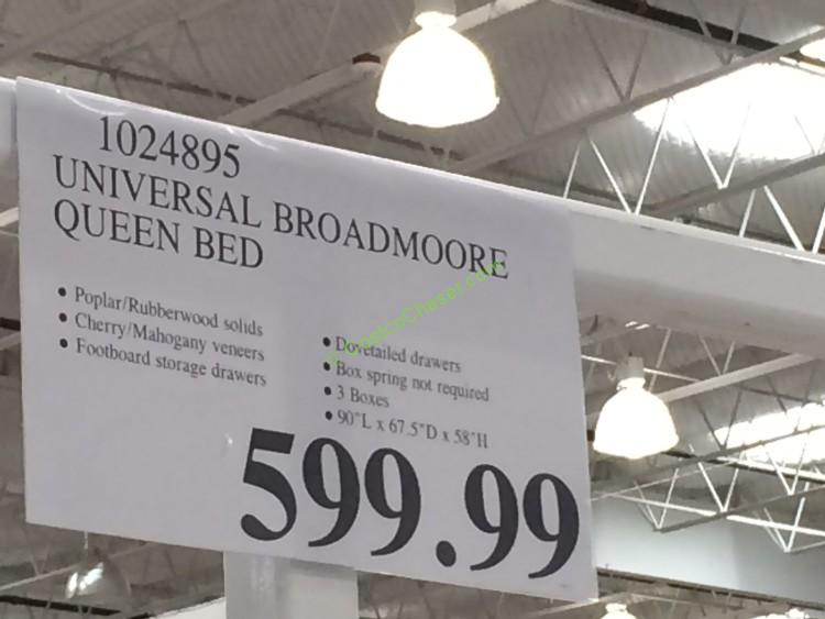 costco 1024895 universal broadmoore bed tag