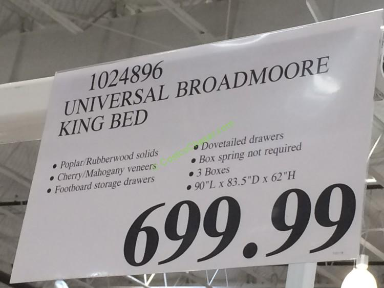 Costco-1024896-Universal-Broadmoore-Bed-tag