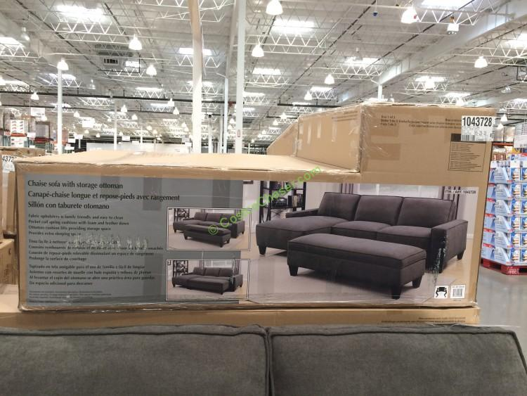 seating product sectional cocktail santana chaise furniture gray and room piece ottoman set sectionals living facing with right package