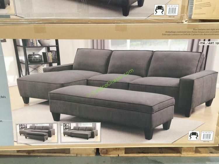 Costco-1043728-Fabric-Sectional-with-Storage-Ottoman-pic1 : sectional with storage - Sectionals, Sofas & Couches