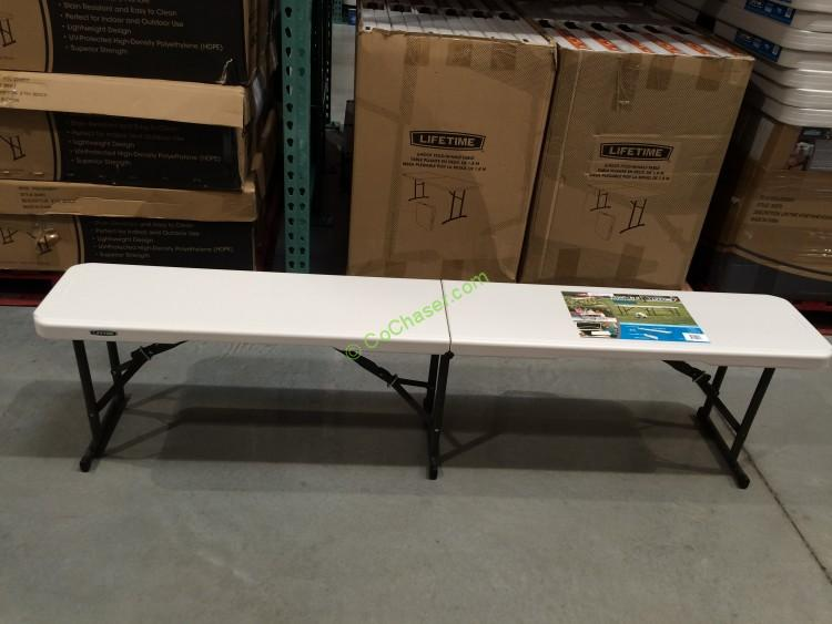 Lifetime Products 6ft Fold In Half Bench 80451 Costcochaser