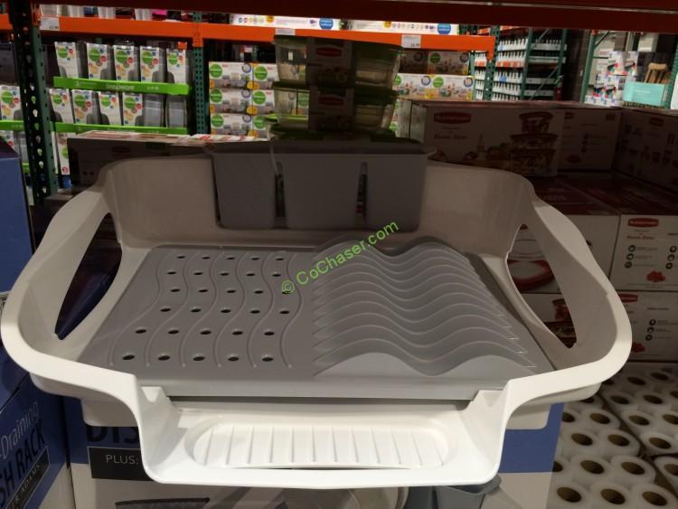 CreativeWare Self-Draining Dish Rack & Drying Mat