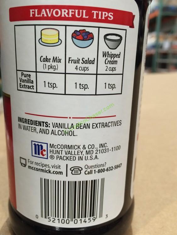 Mccormick Pure Vanilla 16 Ounce Bottle Costcochaser