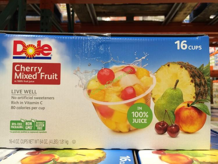 Dole Cherry Mixed Fruit 16/4 Ounce Cups