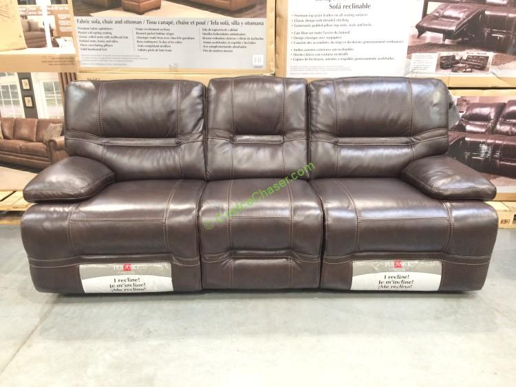 Pulaski Furniture Leather Reclining Sofa Model 155 2475 401 726