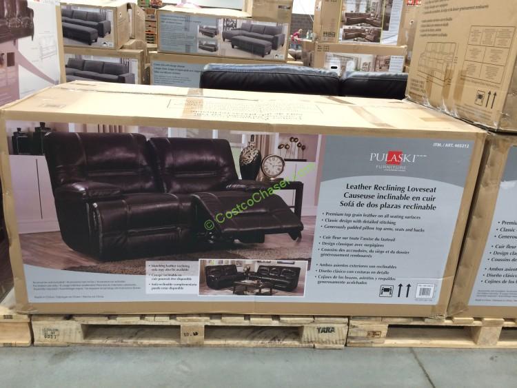 Pulaski Furniture Leather Reclining Loveseat – CostcoChaser