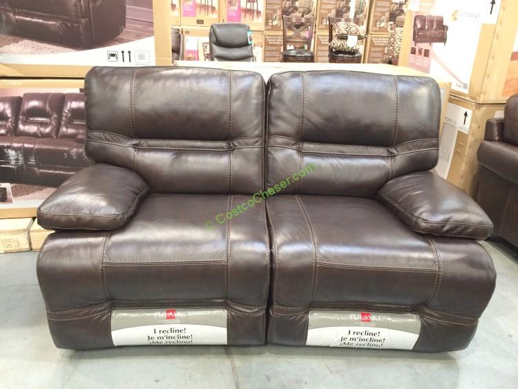 Pulaski Furniture Leather Reclining Loveseat CostcoChaser