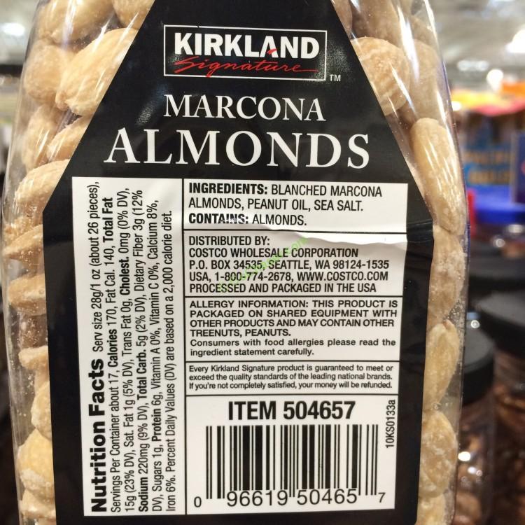 Costco Oil Change >> Kirkland Signature Marcona Almonds 17.63 Ounce Jar ...
