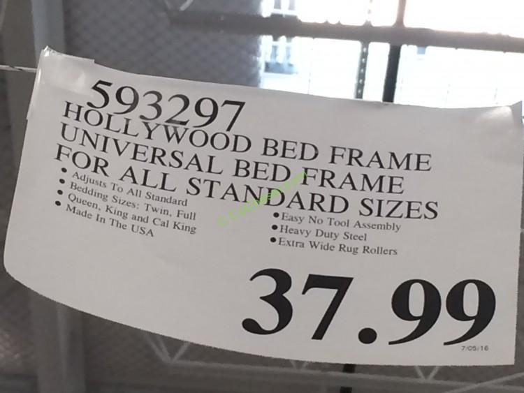 Costco 593297 Hollywood Bed Frame Universal Bed Frame Tag Costcochaser