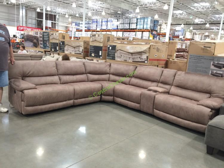 Costco-617592-Fabric-Power-Reclining-Sectional : sectional power recliner - Sectionals, Sofas & Couches