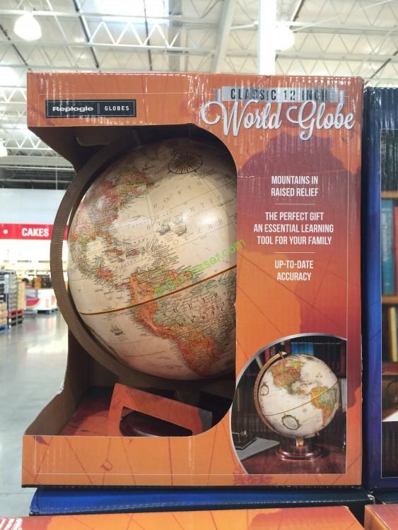 "Replogle Globes 12"" Globe with Walnut Finish Base"
