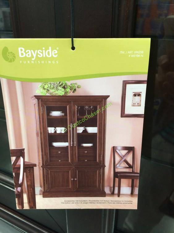 Bayside Furnishings Glass Door Bookcase Costcochaser