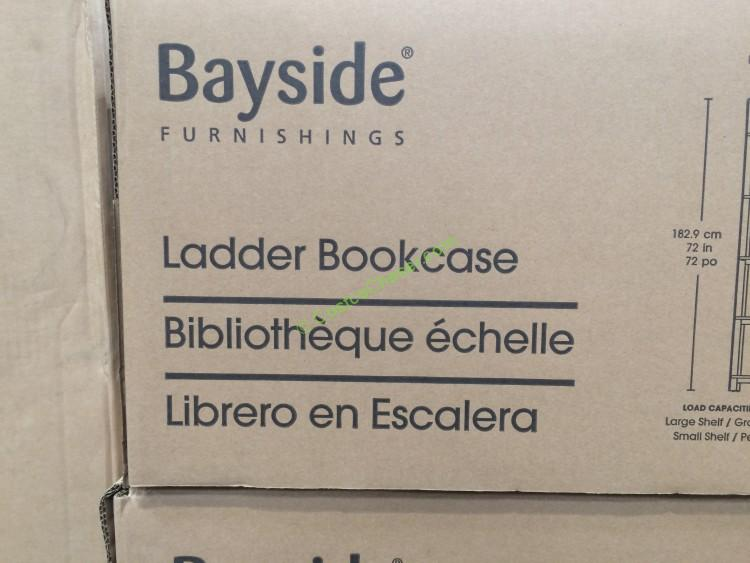 Bayside Furnishings Ladder Bookcase Model Karlbk N
