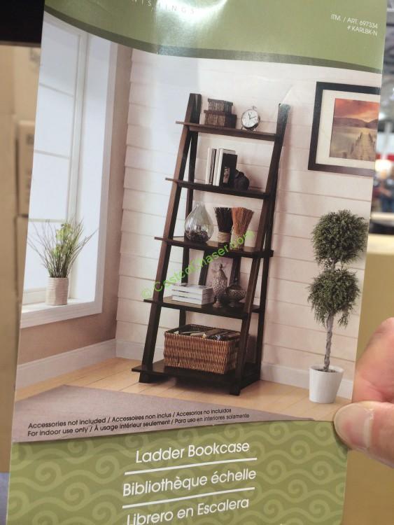 Bayside Furnishings Ladder Bookcase Model Karlbk N
