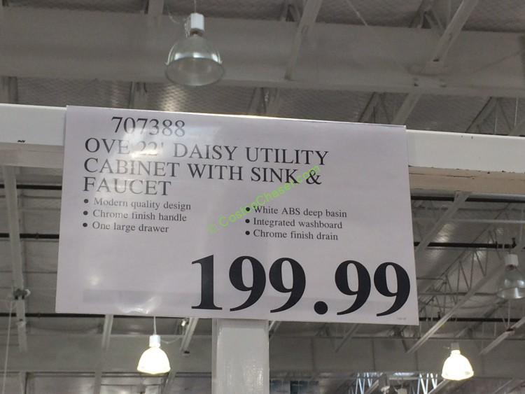 Costco-707388-Ove-22-Daisy-Utility-Cabinet-with-Sink-Faucet-tag