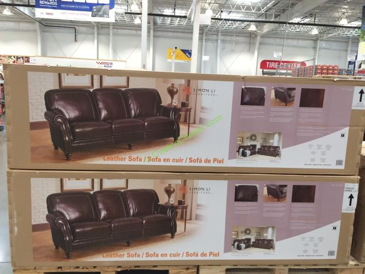 Costco 734548  Simon Li Leather Sofa All