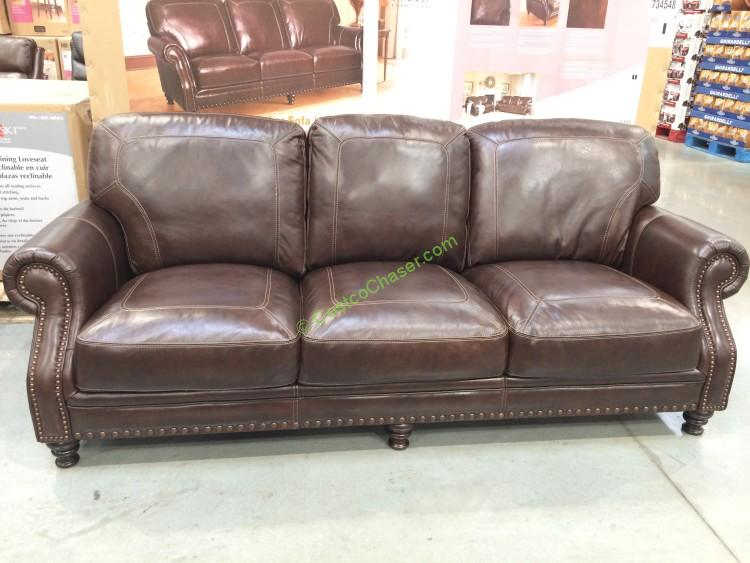 Superbe Costco 734548  Simon Li Leather Sofa