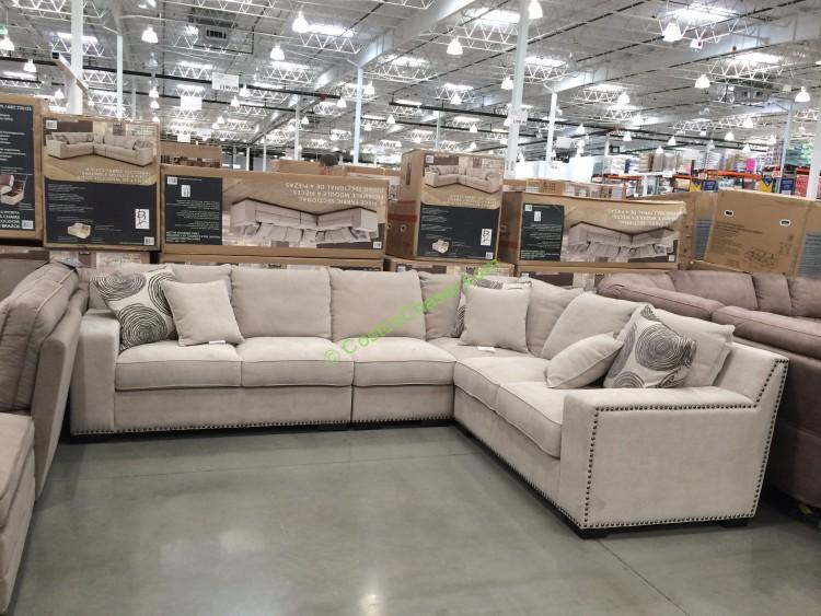 Bainbridge 4PC Fabric Sectional Model# COU4254A-29-4PCSET-K