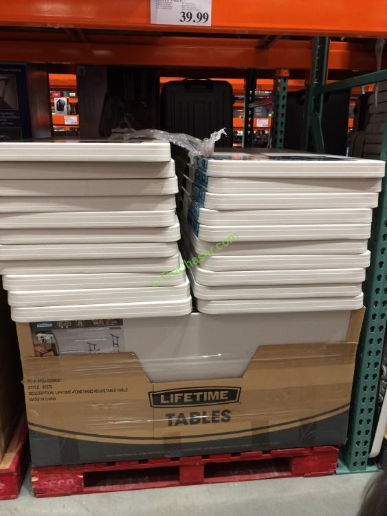 Great Costco 886092 Lifetime Products 4FT  2 FT Utility Table All