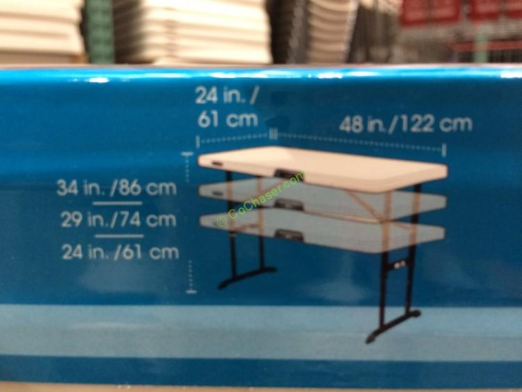 Costco 886092 Lifetime Products 4FT  2 FT Utility Table Size