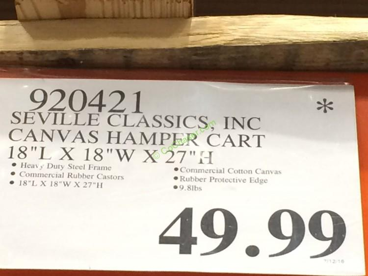 Costco-920421-Seville-Classics-Canvas-Hamper-Cart -tag