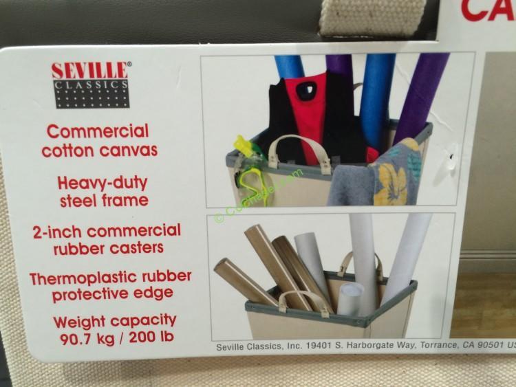 Costco-920421-Seville-Classics-Canvas-Hamper-Cart-use