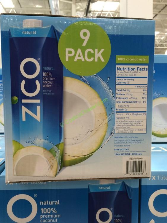 ZICO Coconut Water 9/1 Liter Boxes