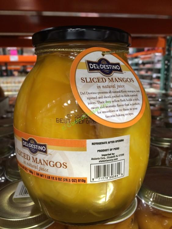 Del Destino Sliced Mangos in Juice 42 Ounce Jar