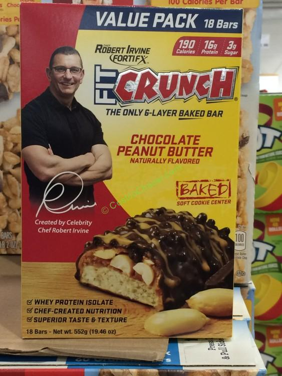 Chef Robert Irvine FortiFX Fit Crunch Peanut Butter Bars 18 Count Box