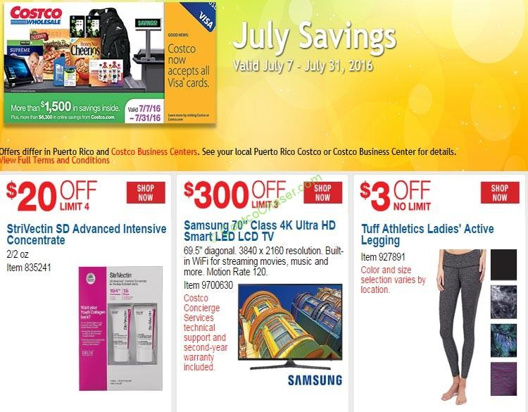 Costco Coupon Book: July 7 – July 31, 2016