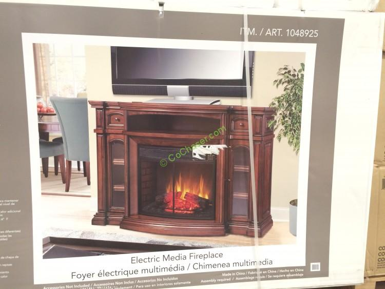 "Well Universal 72"" Electric Fireplace Media Mantle ..."